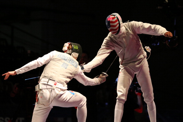 Miles Chamley Watson on way to a gold medal at the 2013 World Fencing Championships in Budapest