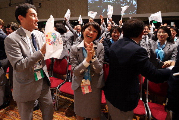 More celebrations from the Japanese delegation following their emphatic 2020 victory