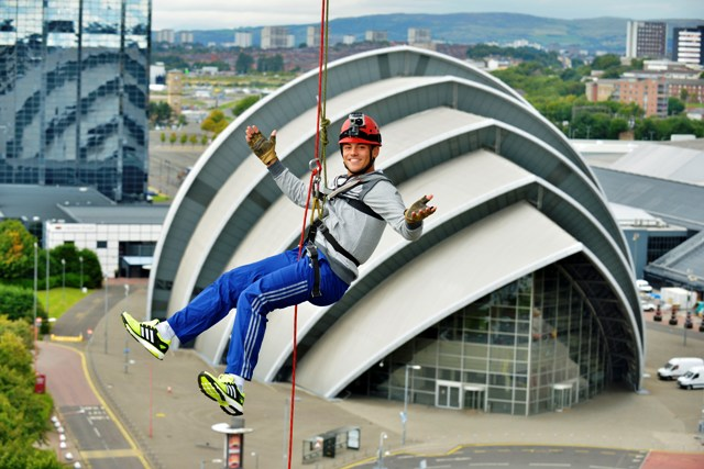 Olympic diving champion Daley gets a bird's eye view of Glasgow