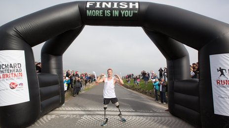 Richard Whitehead has completed his 40 marathons in 40 days challenge
