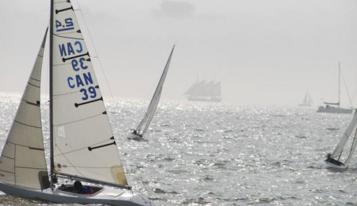 Sailors in action at Poole for the 2.4mR world championships