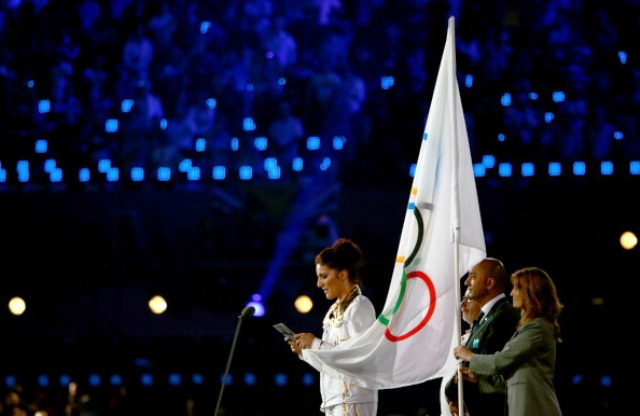 Sarah Stevenson was chosen to read out the Athlete Oath at the Opening Ceremony of London 2012