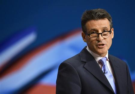 Sebastian Coe presented the final London 2012 report to the IOC at its Session in Buenos Aires