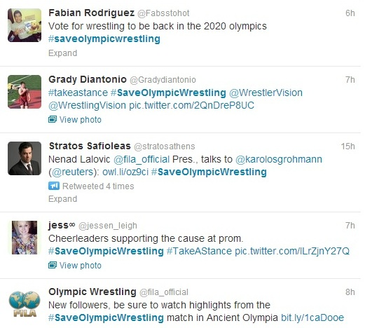 Social media is playing a big part in the campaign to save Olympic wrestling