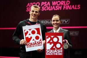 Squash star Nick-Matthew alongside former cyclist Victoria Pendleton in back Squash 2020