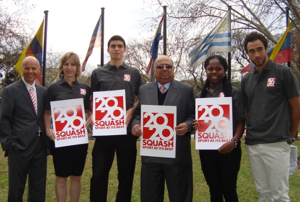 Squash's delegation here in the final stages of their campaign for Olympic inclusion