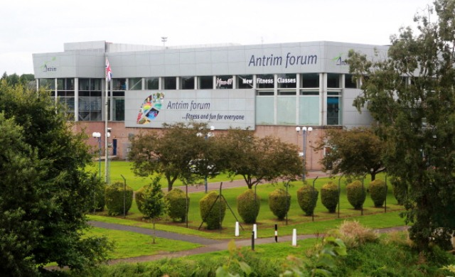 The Antrim Forum sports complex in Northern Ireland where the alleged sexual assaults took place