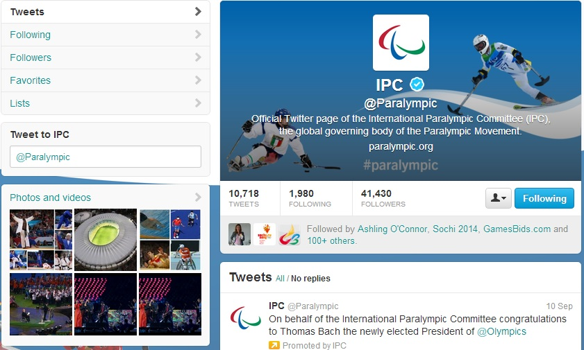 The IPC is encouraging people to share their Sochi 2014 experiences online through social media