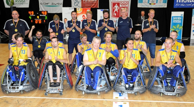 The successful Sweden side who defended their European crown in Antwerp with a win over Denmark in the final