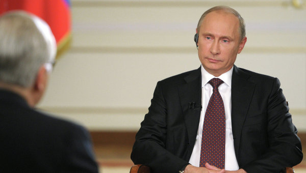 Vladimir Putin denied the existence of anti-gay laws in his nation