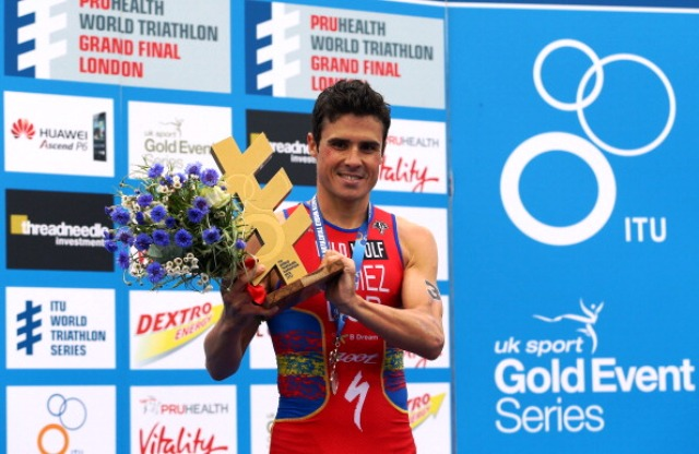 Will Spain's Javier Gomez be celebrating again in after the Edmonton Grand Final next year?