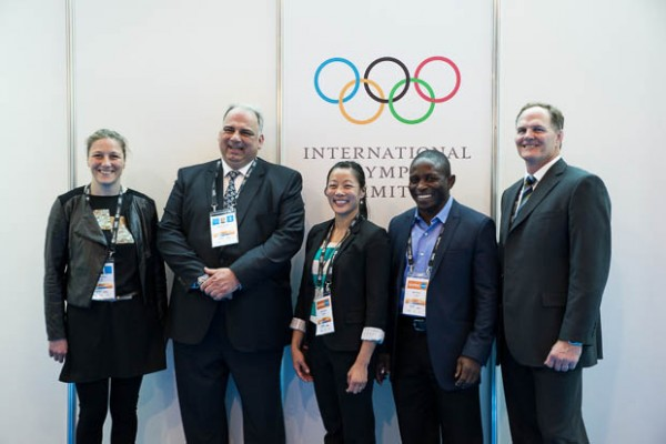 Nenad Lalovic (second left), President of FILA, will lead the wrestling team making a presentation to the IOC in Buenos Aires on Sunday