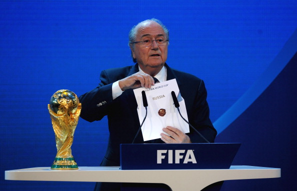 FIFA President Sepp Blatter believes that hosting the FIFA World Cup in 2018 will help Russia's bid to host matches at Euro 2020 rather than hinder