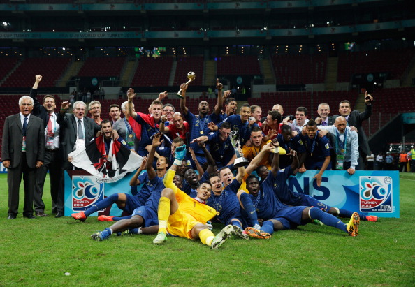 France won the Under 20 FIFA World Youth Cup earlier this year in Turkey