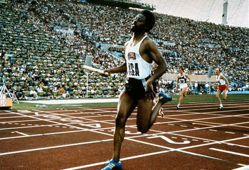 Although he missed the Munich 1972 100m race, Eddie Hart went on to win gold as part of the US 4x100m relay team