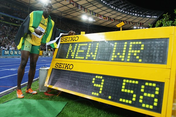 Usain Bolt's world record stands at 9.58secs, although Valeriy Borzov never broke 10secs for the 100m
