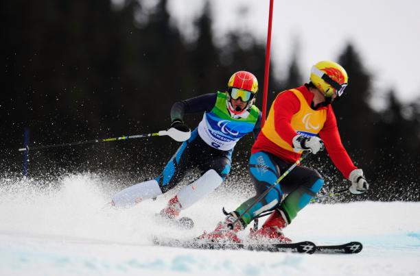 Visually impaired skier Jon Santacana faces a race against time to be fit to compete at Sochi 2014 after tearing his Achilles