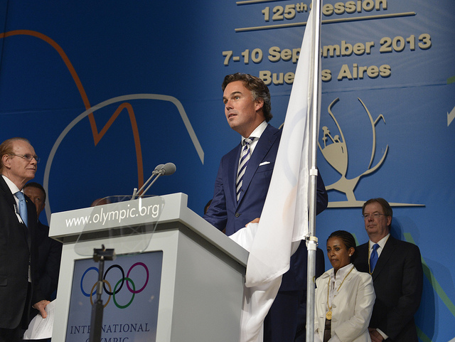 KLM President and chief executive Camiel Eurlings officially joins the International Olympic Committee