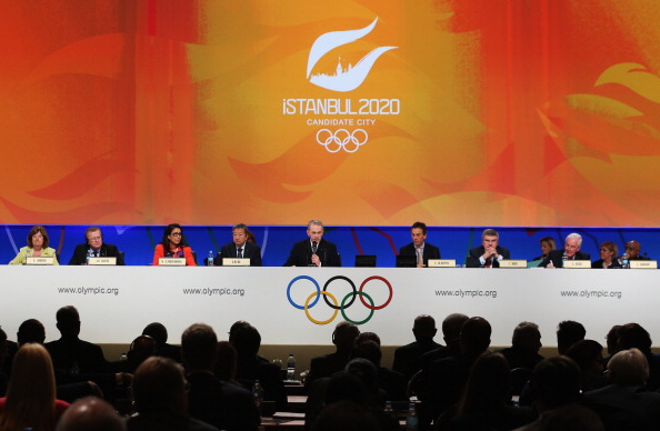 IOC President Jacques Rogge and his ruling Executive Board prepare to hear the presentation from Istanbul 2020