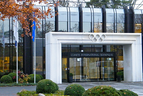 Thomas Bach today moved into his office at the IOC's headquarters in Lausanne