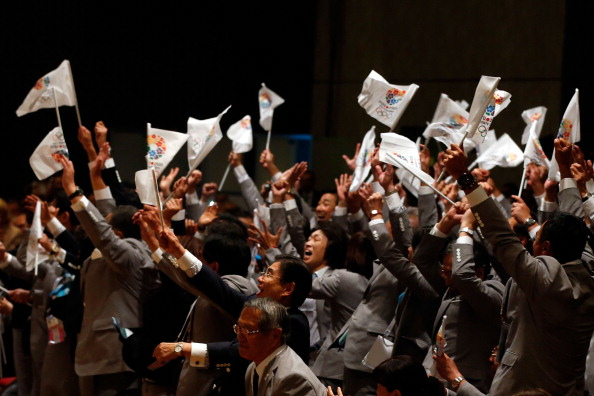 Tokyo supporters in Buenos Aires celebrate being awarded the 2020 Olympics and Paralympics