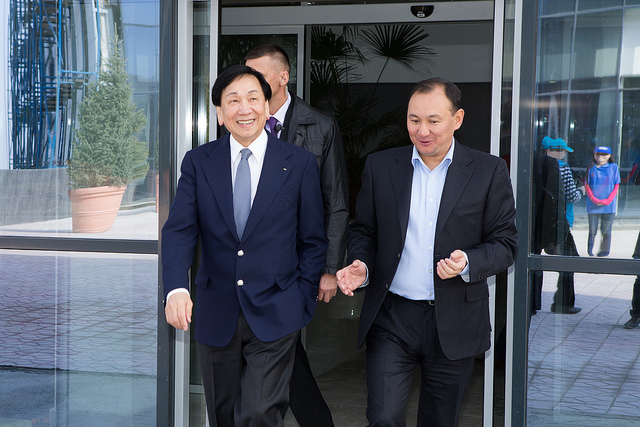 AIBA President Dr Ching-Kuo Wu led the visit to the academy which is due to be be fully operational by the beginning of next year