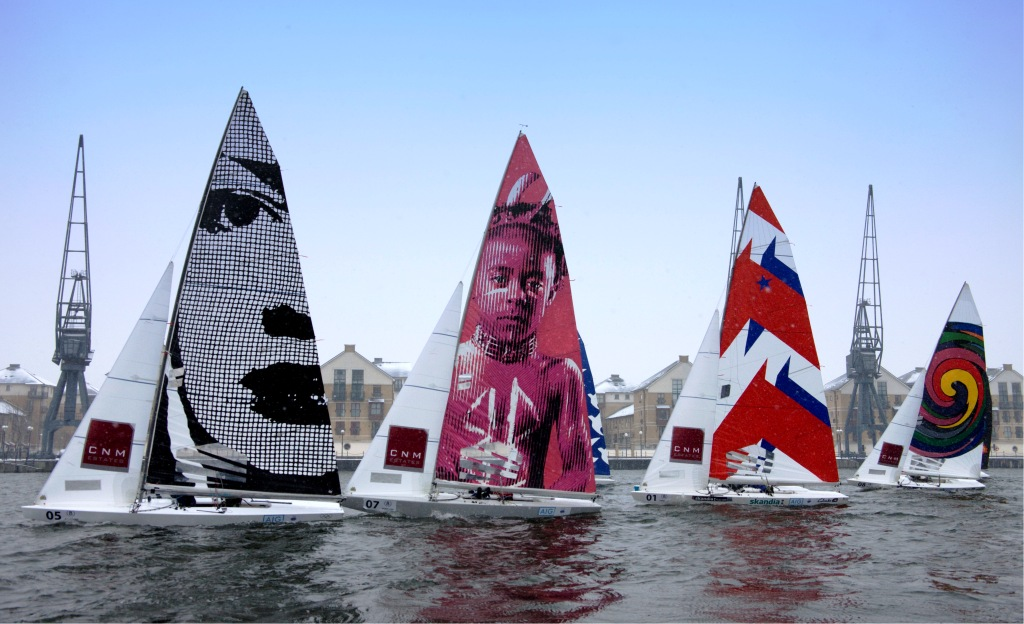 A new competition for schools called Sail Art has been launched with the help of Olympic champions Sir Ben Ainslie and Iain Percy