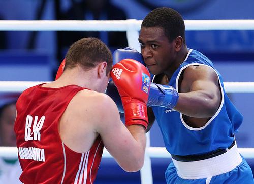 Americas Bandarenka Vitali took on Bandarenka Vitali from Belarus on day four on the AIBA World Boxing Championships