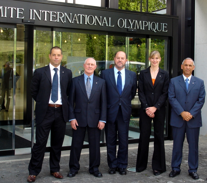 Antonio Espinos (centre), President of the World Karate Federation, is disappointed that the IOC will not compensate sports whose campaigns to win a place on the Olympic programme are unsuccessful