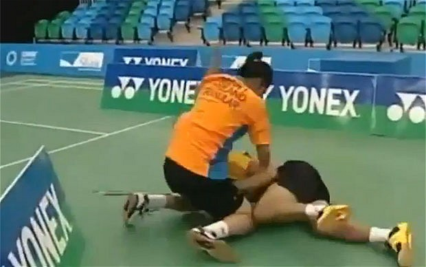 Badminton player Bodin Issaras two year ban for brawling with an opponent has been upheld after an appeal