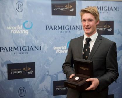 British student rower James Cook won the inaugural Parmigiani Spirit Award
