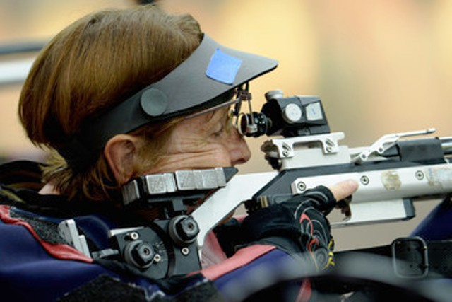 British veteran Deanna Coates is still going strong and took silver in Alicante at the IPC Shooting European Championships