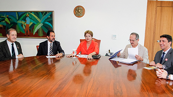 FISU President Claude-Louise Gallien is received by President of Brazil Mrs Dilma Rousseff