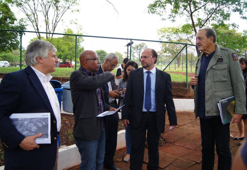 FISU delegates arrive in Brasilia for an official inspection following the cities bid to host the 2019 Summer Universiade