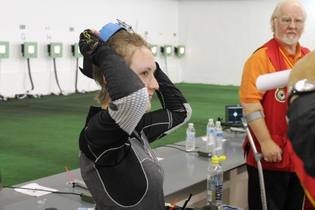 Germany's Natacha Hiltrop announced her arrival on the international shooting scene by taking European gold in Alicante