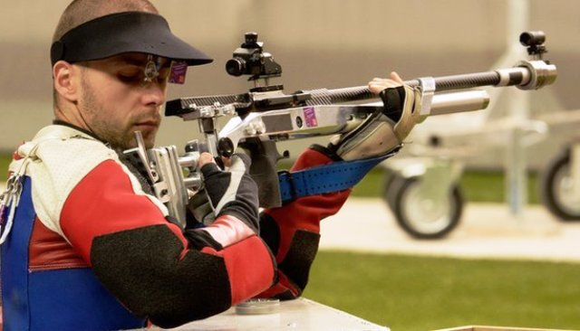 Great Britain's Matt Skelhon just missed out on an individual medal on day two at the IPC Shooting European Championships