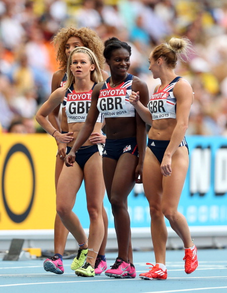Great Britains womens 4 x 100m relay team have been rewarded for their bronze medal at the 2013 world championships