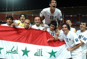 Iraq celebrate winning the 2007 Asian Cup in happier times than todays boycott announcement