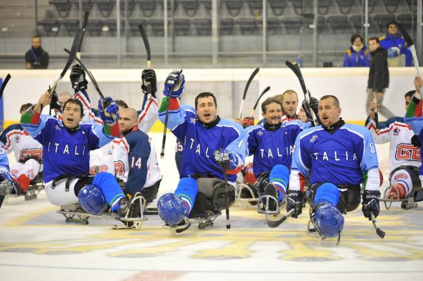 Italy won the opening match of the IPC Ice Sledge Hockey Qualification Tournament