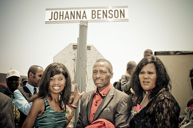 Paralympic champion Johanna Benson has been honoured by having a street renamed after her
