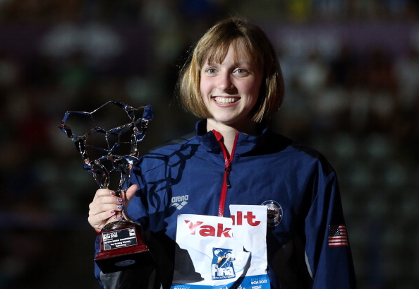 Katie Ledecky has been named as the USOC's sportswoman of the year for 2012-2013