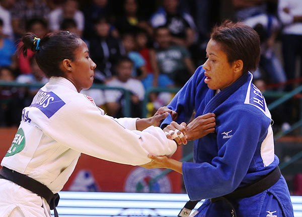 Ketleyn Quadros (left) added to her win in Almaty last week with victory in Tashkent