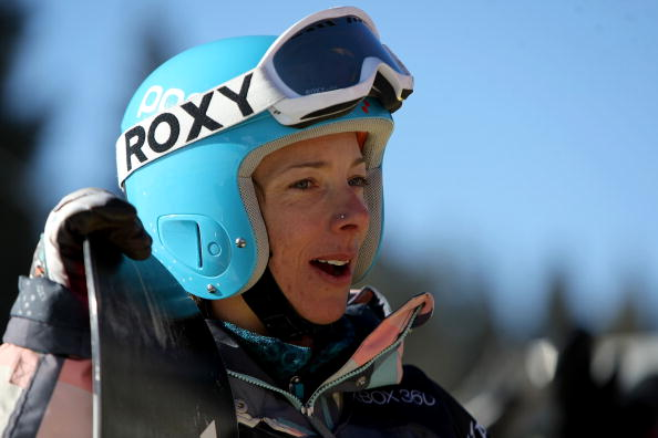 Leslie McKenna competing at a World Cup event in 2009 as part of her long and successful snowboarding career