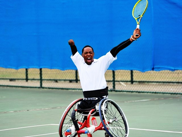 Lucas Sithole claimed a first African Grand Slam win at Flushing Meadows last month