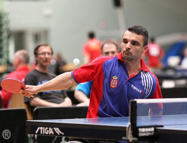 Mitar Palikucav (pictured) and teammate Miroslav Homa set up a final showdown with top seeds France in the class five category