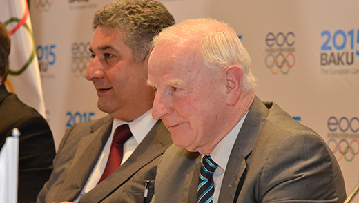 European Olympic Committees President Patrick Hickey is hopeful athletics will be on the programme for Baku 2015