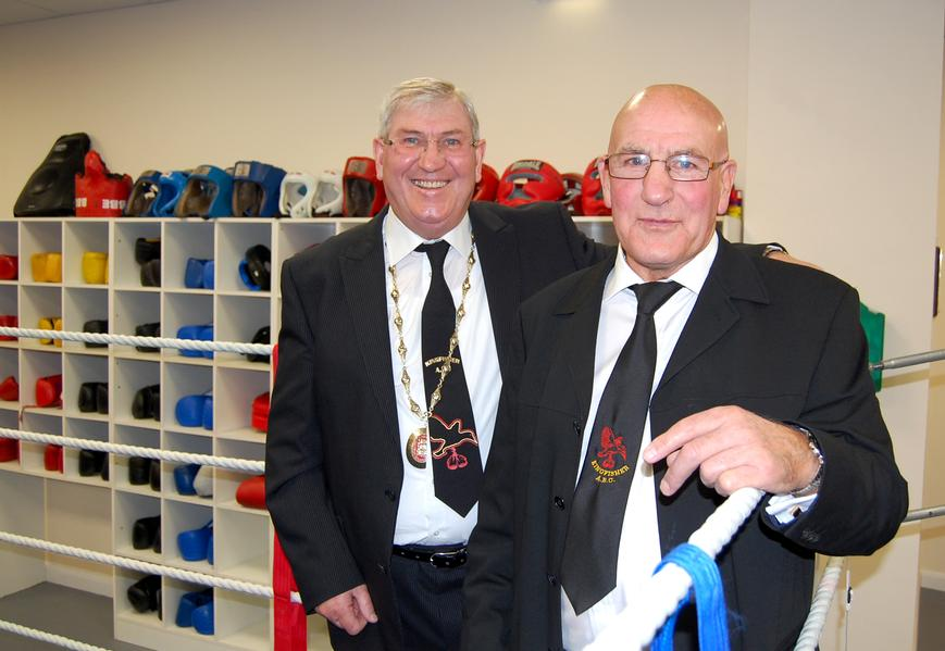 President of the ABAE Keith Walters pictured opening the new Kingfisher Boxing  Club at Gorleston has added his opinion to the ongoing furore