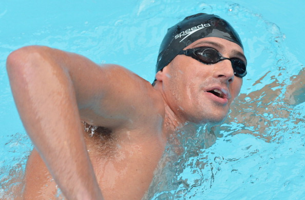 Ryan Lochte leads the Team USA men's line up for Duel in the Pool