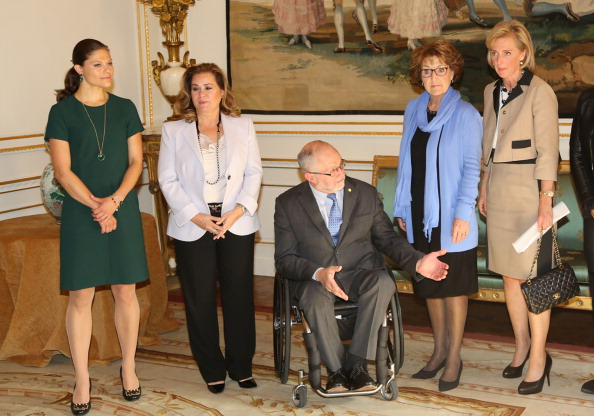 Sir Philip Craven accompanied by members of the Honorary Board of the IPC at the Palais Royal Hotel in Brussels