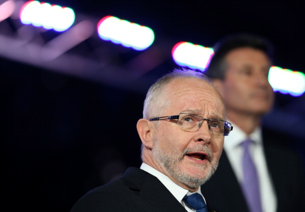 Sir Philip Craven speaking during the Closing Ceremony of the London 2012 Paralympic Games